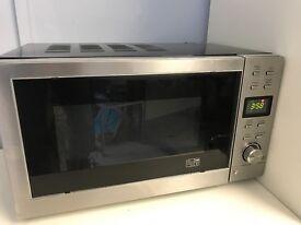 silver / black 700w microwave