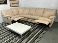 CSL leather reclining corner sofa