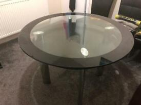 Table & leather chair
