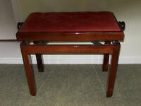 Mahogany Adjustable Height Piano Stool