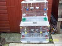 VISION BIRD CAGES IN VERY GOOD CLEAN CONDITION WITH ACCESSORIES, BARGAIN.