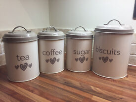 Tea, Coffee, Sugar & Biscuit Set