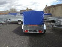 BRAND NEW MODEL 7.7x4.2 DOUBLE AXLE TRAILER WITH FRAME AND COVER 750KG