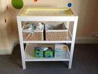 Mothercare changing table- white