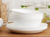 Plates, glases, cutlery, bowls