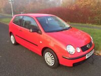 POLO 1.2 E 05 REG 3 DR IN RED WITH GREY TRIM, SERVICE HISTORY AND MOT OCT 2017, PETER 07867955762