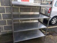 stainless steel 4 tier rack. Bottom shelf