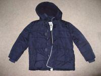 M&S Boys Jacket Style Padded Winter Coat (Age 7-8)