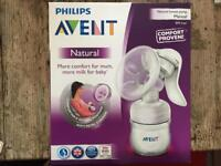 Philips Avent Natural manual breast pump and bottle