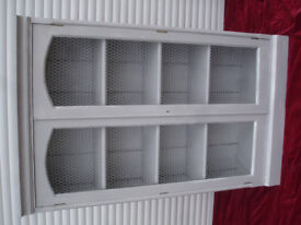 shabby chic french grey wire fronted bookcase