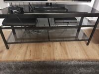 Black and glass ikea tv ready made TV stand