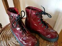 Doc Martin style girls boots