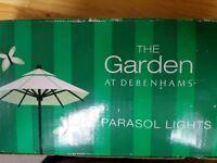 Parasol lights from Debenhams