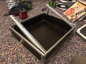 pop up 10U 19 inch rack mixer heavy duty flightcase.