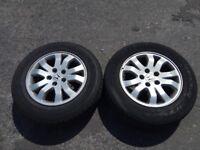 "2x 16"" Genuine HONDA CR-V Alloy wheel + Tyres 215/65R16"