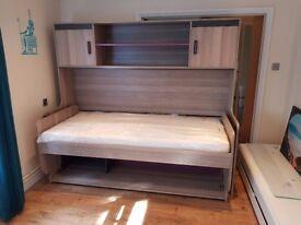 Convertible bed-desk unit