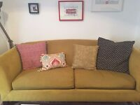 Silhouette Sofa (mustard) from Crate and Barrel (US)