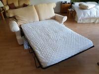 2 Seater Sofa Bed - Cream Coloured
