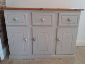 Distressed looking pine cupboard