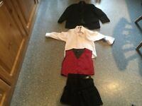 VIVAKI BABY BOYS 4 PIECE SUIT AGE 18-23 MONTHS. Jacket, shirt, waistcoat and kilt. BARGAIN PRICE.