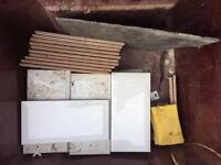 Bevelled edge white tiles x30 approx