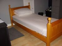 SINGLE HANDMADE WOODEN BED - GREAT CONDITION (ANOTHER AD FOR SECOND BED)
