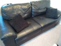Comfy Leather Sofa - great condition