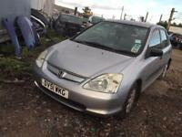 BREAKING HONDA CIVIC 2001-2006 CAR PARTS SPARES