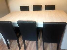 New dinning table and chairs