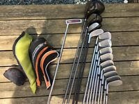 Gents Full Golf Club Set. 14 Quality Clubs. 2 Bags. Balls tees and even shoes