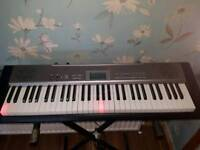 Casio lk120 keyboard and stand