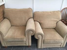 Double sofa and armchairs