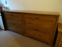 Two chest of drawers and matching bedside tables – from Ikea in great condition