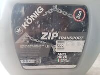 THULE KONIG ZIP SNOW CHAINS Size 220 / 16mm Thickness – NEW