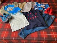 Bundle of boys age 2 clothing 9 items