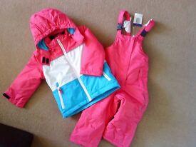 Girls winter/snow/ski jacket & dungarees