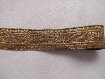 3mt. Antike Borte Bordüre Spitze Gold aus Frankreich 3cm. Breit