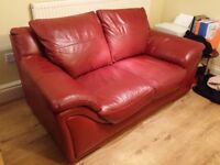 Leather 2 seater sofa (Delivery today)