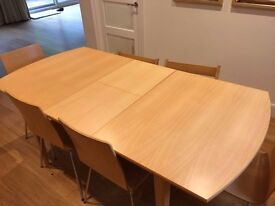 Extending Dining table, excellent condition, 6 - 8 people, open to offer, sell asap
