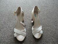 Dune Pink Imelda Leather Heeled Sandals UK Size 5
