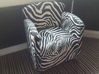 Designer Zebra chair.