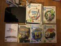 Wii console, wii draw and 6 games