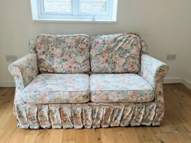 2 seater floral sofa bed only 1 year old