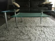 Near New Coffee Table- Frosted glass, silver and chrome. Willoughby Willoughby Area Preview