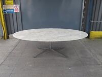 Genuine Florence Knoll Extra Large Oval Marble Table