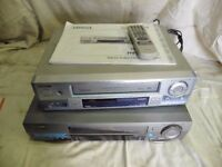 2 video recorders for spares or repair