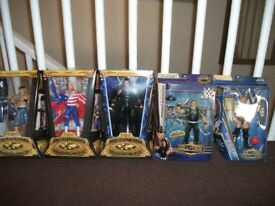 Wrestling figures all boxed as new condition