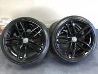 Audi Gloss Black RS6 Alloys 20""