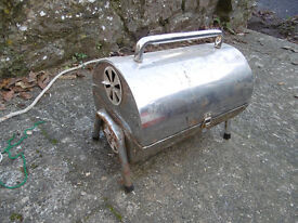 Barrel-type BBQ - stainless steel