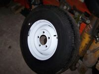 Land Rover 7.50 X16 part worn Michelin wheel and tyre